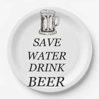 Beer Food Drink 9 Inch Paper Plate