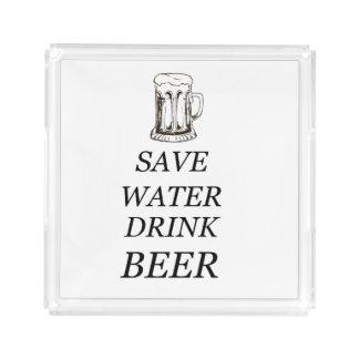 Beer Food Drink Acrylic Tray