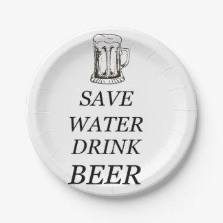 Beer Food Drink Paper Plate