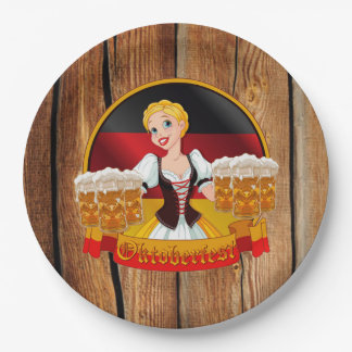 Beer For All Oktoberfest Party Paper Plates 9 Inch Paper Plate