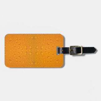 Beer glass macro pattern 8868 luggage tag