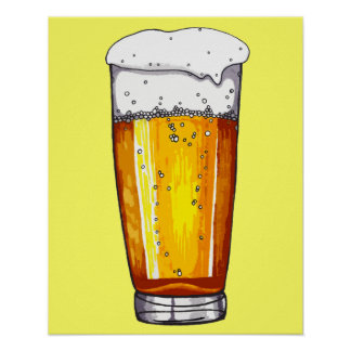 Beer Glass Poster