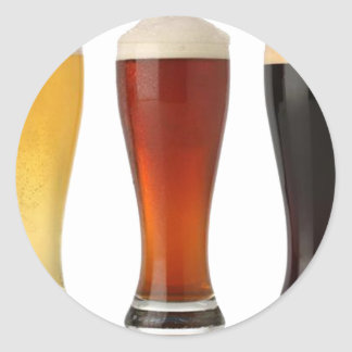 beer glasses.png classic round sticker