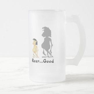 Beer...Good 16 Oz Frosted Glass Beer Mug