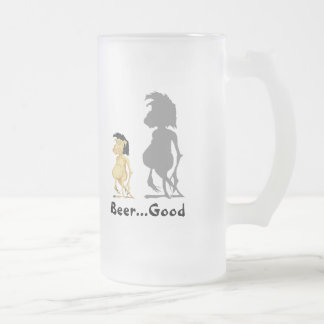 Beer...Good Frosted Glass Mug
