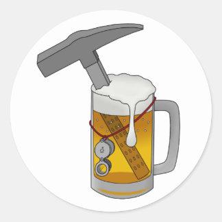 Beer Hammer Classic Round Sticker