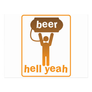 beer hell yeah! postcard