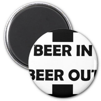 beer in beer out drinking icon fridge magnets