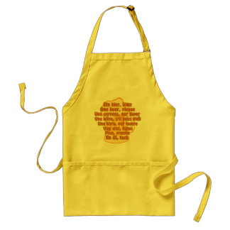 BEER in languages apron - choose style & color