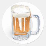 Beer In Mug/Oktoberfest Round Sticker