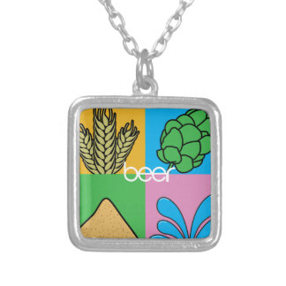 Beer Ingredients Silver Plated Necklace