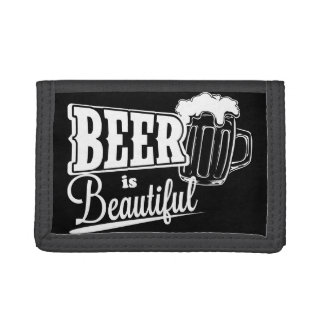 Beer is beautiful trifold wallet