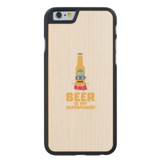 Beer is my superpower Zync7 Carved Maple iPhone 6 Case