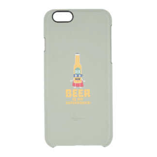 Beer is my superpower Zync7 Clear iPhone 6/6S Case