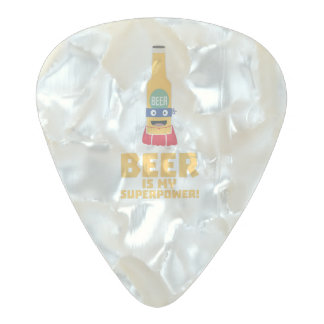 Beer is my superpower Zync7 Pearl Celluloid Guitar Pick