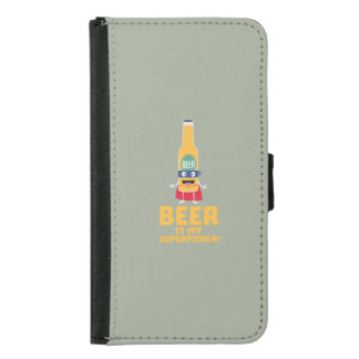 Beer is my superpower Zync7 Samsung Galaxy S5 Wallet Case