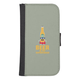 Beer is my superpower Zync7 Samsung S4 Wallet Case