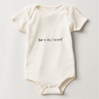 Beer is why I'm here! Baby Bodysuit