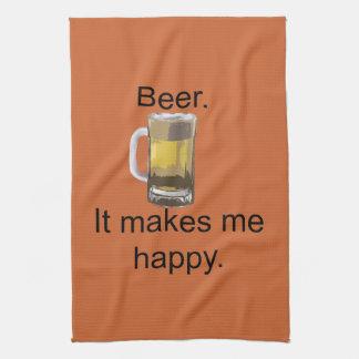 Beer. It Makes Me Happy. Kitchen Towel