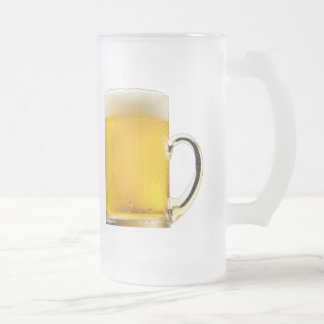 BEER, It's Not Just for Breakfast Anymore! Frosted Glass Mug