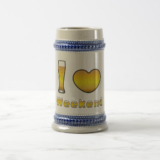 Beer jug I LOVE WEEKEND Beer Stein