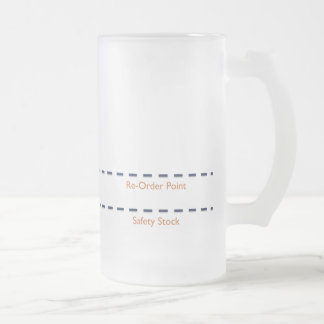 Beer Kanban Frosted Glass Beer Mug