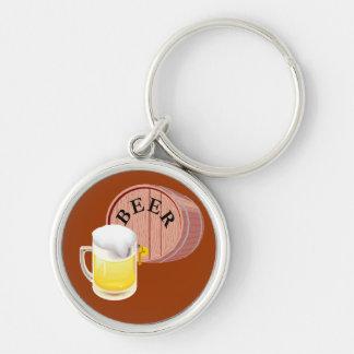 Beer keg and beer stein keychain