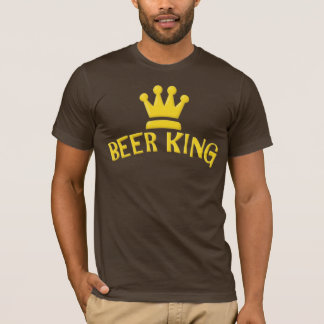 Beer King Funny Slogan T-shirt for Men