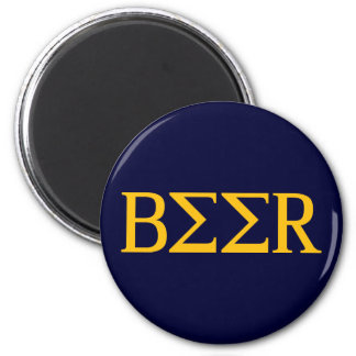 Beer Letters 2 Inch Round Magnet