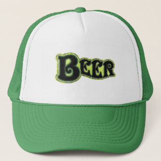 Beer Logo - Art Brush Look Trucker Hat