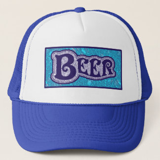 Beer Logo -  Blue Texture Look Trucker Hat