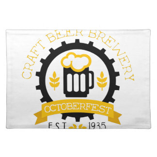 Beer Logo Design Template With Pint Placemat