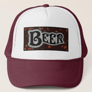 Beer Logo -  Red/BlackTexture Look Trucker Hat