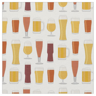 Beer Lover Print Fabric