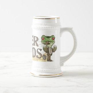 Beer Me Frog Heads by Mudge Studios Beer Stein