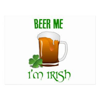 Beer Me I'm Irish Postcard