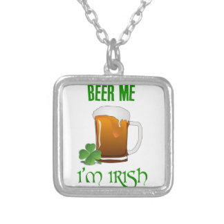 Beer Me I'm Irish Silver Plated Necklace