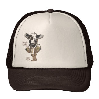 Beer Me Moo Cow by Mudge Studios Trucker Hat
