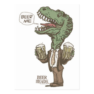 Beer Me T. Rex by Mudge Studios Postcard