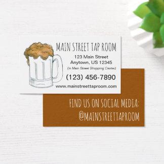 Beer Mug Ale Bar Tap Room Restaurant Drinking Business Card