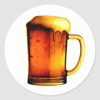 Beer Mug Classic Round Sticker