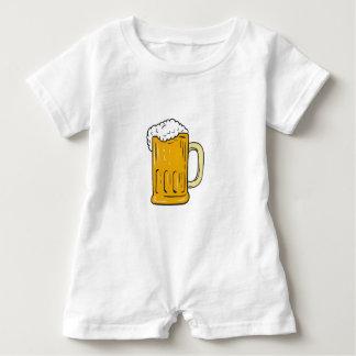 Beer Mug Drawing Baby Romper