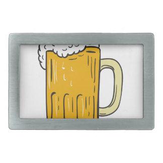 Beer Mug Drawing Belt Buckle