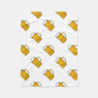 Beer Mug Drawing Fleece Blanket