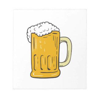 Beer Mug Drawing Notepad