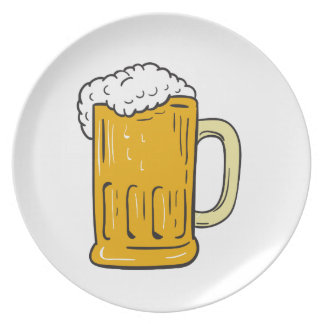 Beer Mug Drawing Plate