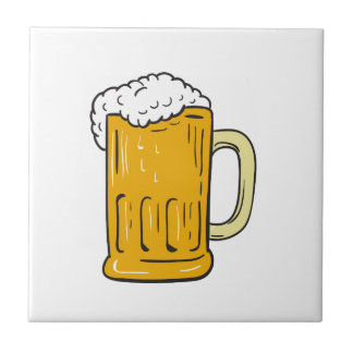 Beer Mug Drawing Tile