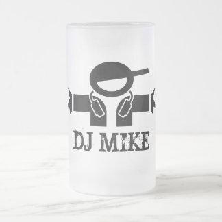 Beer mug for Deejays   Customizable DJ name