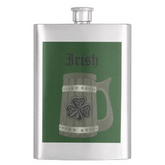 Beer mug Irish lucky shamrock Flasks