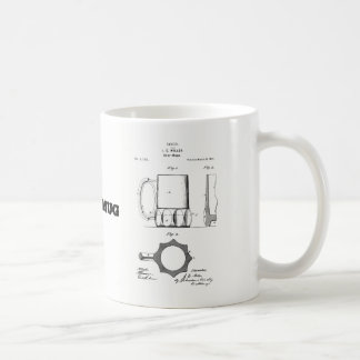 Beer Mug with vintage beer mug invention drawing
